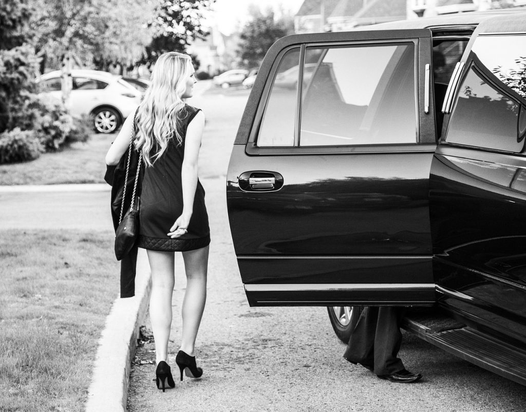 prom, limousine, dresses